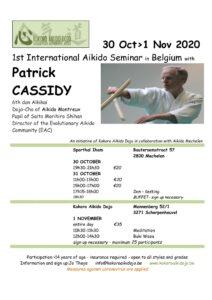 Seminar in Belgium with Patrick (CANCELLED) @ Kokoro Aikido Dojo