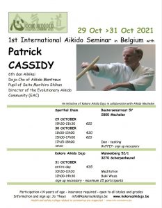 [:en]Seminar in Belgium with Patrick[:fr]Seminaire au Belgique avec Patrick[:] @ Kokoro Dojo